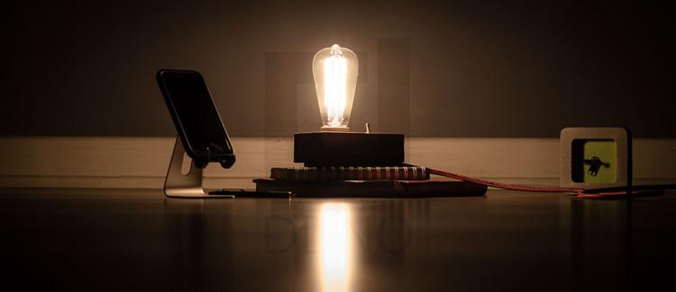 محصولات دیدینو-چراغ خواب و مطالعه تزئینی پایه چوبی