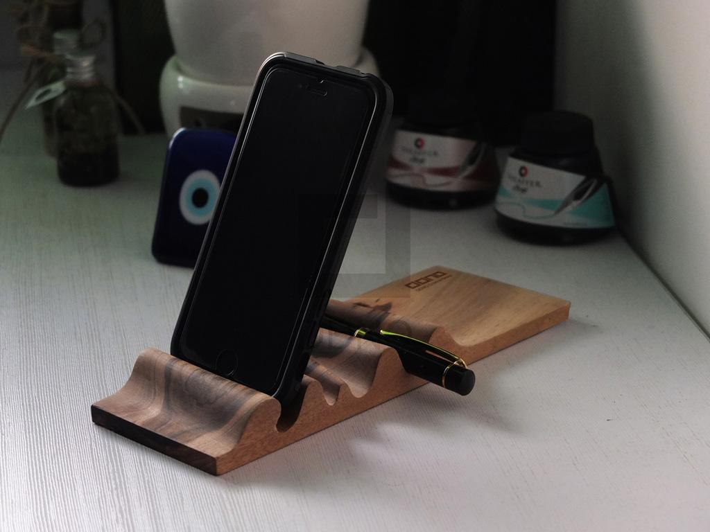 محصولات دیدینو-پایه نگهدارنده چوبی موجدار تبلت و موبایل