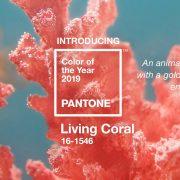 رنگ صورتی مرجانی زنده و پر انرژِی