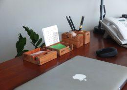 چهار قطعه چوبی رو میزی
